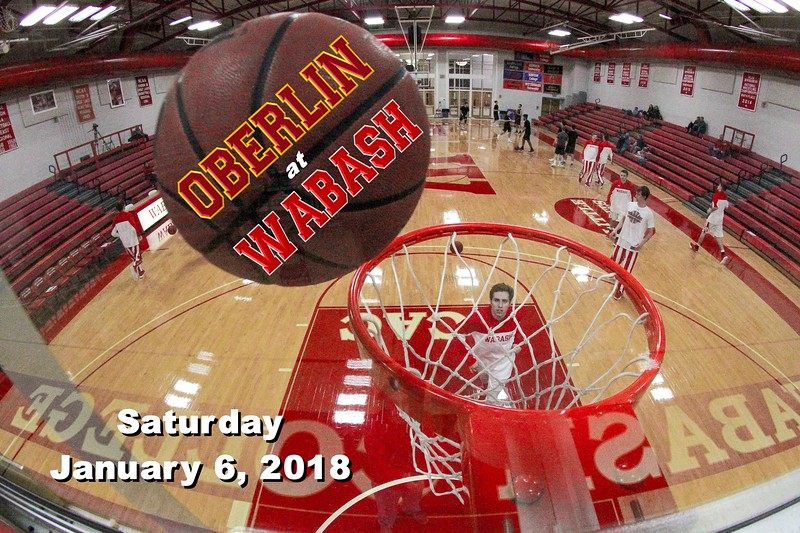 Oberlin College Yeomen at Wabash College Little Giants - Saturday, January 6, 2018