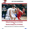 Official Game Program - Oberlin College Yeomen at Wabash College Little Giants - Saturday, January 6, 2018