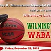 Wilmington College Quakers versus Wabash College Little Giants - The Charles B. Zimmerman Memorial Classic Held on the Campus of Wittenberg University - Friday, December 28, 2018