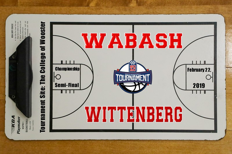 NCAC League Championship Semi-Final - Wabash College Little Giants versus Wittenberg University Tigers - Tournament Site: The College of Wooster - Friday, February 22, 2019