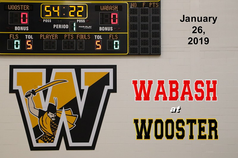 Wabash College Little Giants at The College of Wooster Scots - Saturday, January 26, 2019