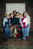 Guarding The Monon Bell on Display in Front of The Wabash College Chapel - Friday, November 15, 2002 - The Night Before The 109th Monon Bell - DePauw University Tigers at Wabash College Little Giants - The 109th Monon Bell Classic