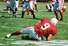 (9) Brandon Clifton makes the catch - September 20, 2003 Earlham Quakers at the Wabash Little Giants   (Old Canon AE-1 35mm film camera)