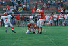 Holder (10) Dustin DeNeal and place kicker (44) Olmy Olmstead - September 27, 2003 Huntingdon Hawks at Wabash Little Giants   (Old Canon AE-1 35mm film camera)