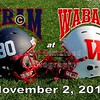 Saturday, November 2, 2013 - Hiram College Terriers at Wabash College Little Giants