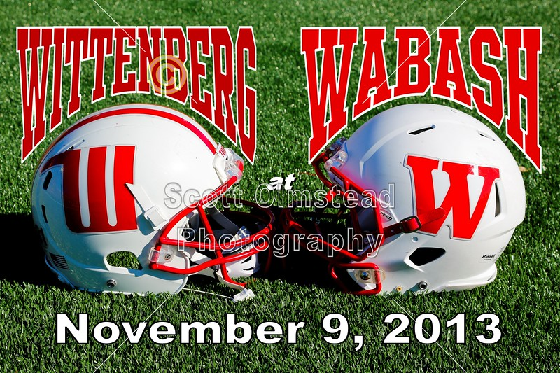Saturday, November 9, 2013 - Wittenberg University Tigers at Wabash College Little Giants