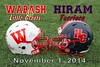 Wabash College Little Giants at Hiram College Terriers - Saturday, November 1, 2014