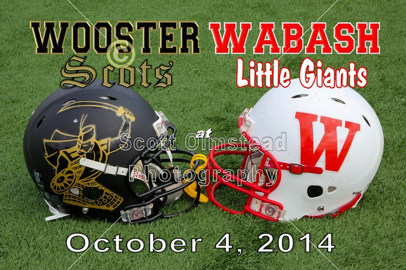 The College of Wooster Fighting Scots at Wabash College Little Giants - Saturday, October 4, 2014