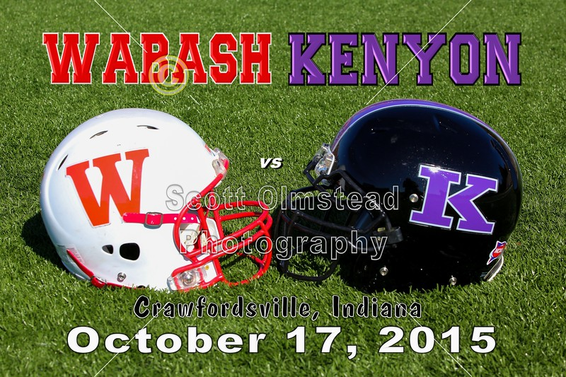 Kenyon College Lords at Wabash College Little Giants - Saturday, October 17, 2015