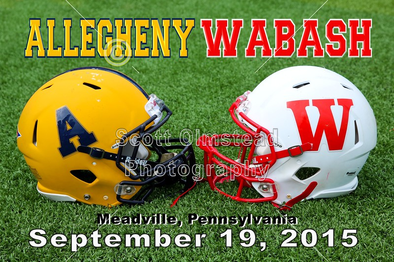 Wabash College Little Giants at Allegheny College Gators - Saturday, September 19, 2015