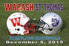Wabash College Little Giants at University of Saint Thomas Tommies - NCAA Elite Eight Playoffs, The Quarterfinals - Saturday, December 5, 2015