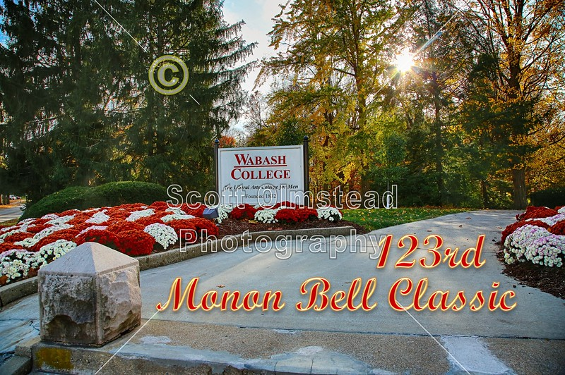 The 123rd Monon Bell Classic - DePauw University Tigers at Wabash College Little Giants - Saturday, November 12, 2016