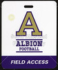 Game Credential - Wabash College Little Giants at Albion College Britons - Saturday, September 3, 2016