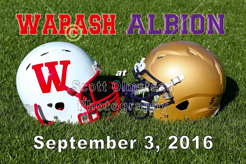 Wabash College Little Giants at Albion College Britons - Saturday, September 3, 2016