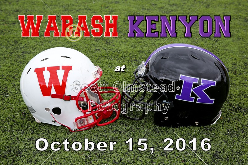 Wabash College Little Giants at Kenyon College Lords - Saturday, October 15, 2016
