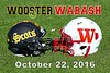 The College of Wooster Fighting Scots at Wabash College Little Giants - Saturday, October 22, 2016