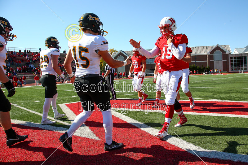 Team Captains and the Coin Toss - The College of Wooster Fighting Scots at Wabash College Little Giants - Saturday, October 22, 2016