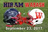 Hiram College Terriers at Wabash College Little Giants - Homecoming - Saturday, September 23, 2017