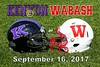 Kenyon College Lords at Wabash College Little Giants - Saturday, September 16, 2017