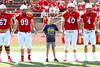 Team Captains and the Coin Toss - Ohio Wesleyan University Battlin' Bishops at Wabash College Little Giants - Saturday, October 14, 2017
