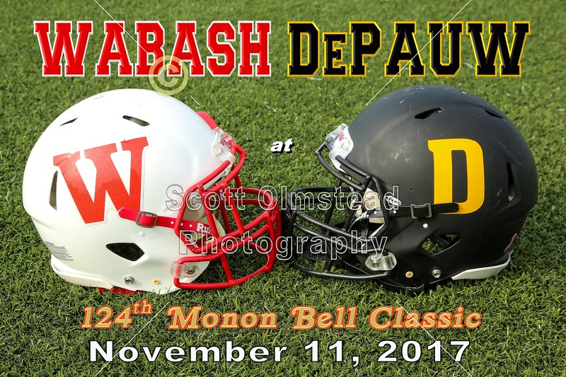 The 124th Monon Bell Classic featuring the Wabash College Little Giants at DePauw University Tigers - Saturday, November 11, 2017
