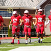 Team Captains and the Coin Toss - Oberlin College Yeomen at Wabash College Little Giants  - Saturday, October 20, 2018