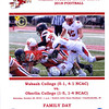 Official Game Day Program - Oberlin College Yeomen at Wabash College Little Giants  - Saturday, October 20, 2018