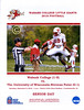 Official Game Day Program - UW-Stevens Point Pointers at Wabash College Little Giants - Senior Day - Saturday, September 8, 2018