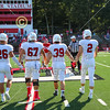 Team Captains and the Coin Toss - Wabash College Little Giants at Denison University Big Red - Saturday, October 6, 2018