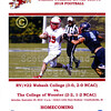 Official Game Day Program - The College of Wooster Fighting Scots at Wabash College Little Giants - Homecoming - Saturday, September 29, 2018