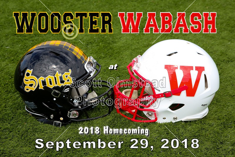 The College of Wooster Fighting Scots at Wabash College Little Giants - Homecoming - Saturday, September 29, 2018