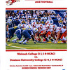 Official Game Program - Senior Day and Homecoming at Wabash College located in Crawfordsville, Indiana - Denison University Big Red at Wabash College Little Giants - Saturday, September 28, 2019