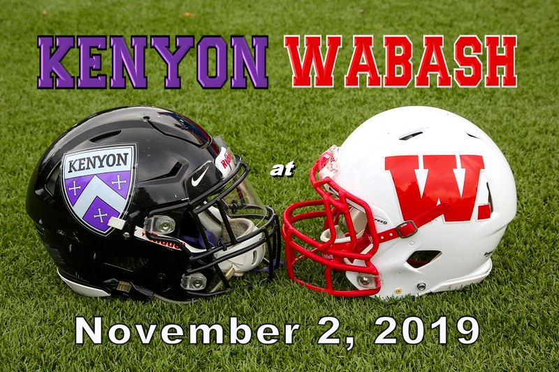 Kenyon College Lords at Wabash College Little Giants - Saturday, November 2, 2019