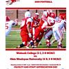 Official Game Program - Ohio Wesleyan University Battlin' Bishops at Wabash College Little Giants - Saturday, October 5, 2019