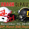 The 126th Monon Bell Classic Featuring the Wabash College Little Giants at the DePauw University Tigers - Saturday, November 16, 2019