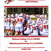 Official Game Program - Wittenberg University Tigers at Wabash College Little Giants - Saturday, October 19, 2019