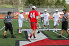 Team Captains and the Coin Toss - Wabash College Little Giants at Denison University Big Red - Saturday, April 18, 2015