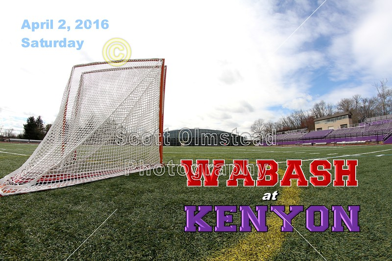 Wabash College Little Giants at Kenyon College Lords - Saturday, April 2, 2016