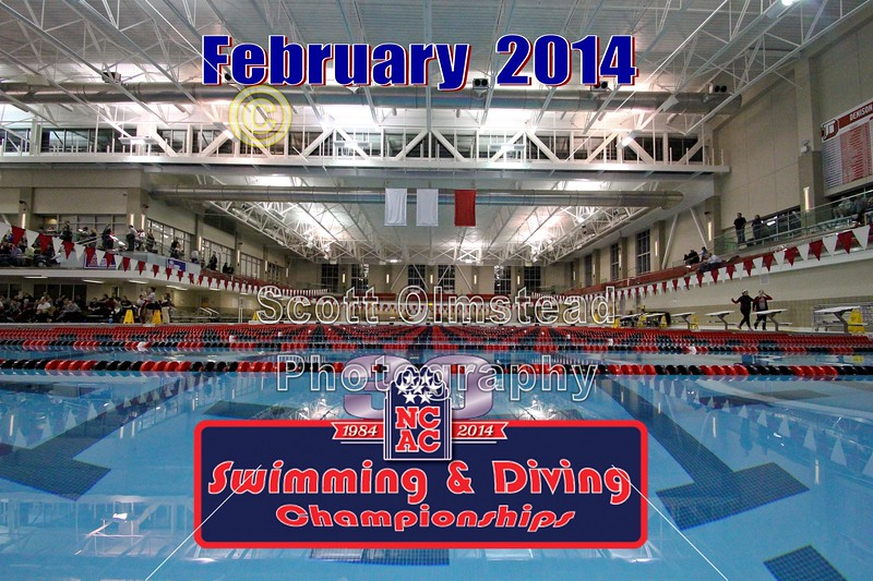 Thursday, February 13, 2014 - The North Coast Athletic Conference, NCAC, Swimming and Diving Championships held on the Campus of Denison University located in Granville, Ohio