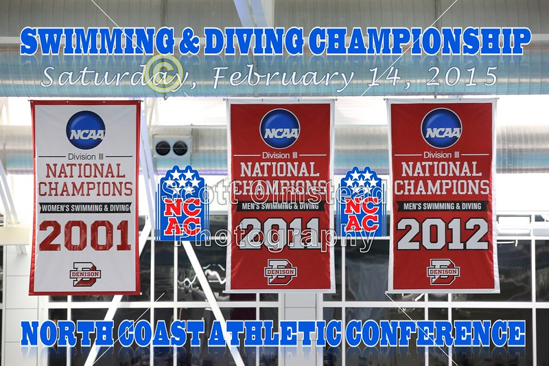 Saturday - The North Coast Athletic Conference Swimming and Diving Championships held at the Trumbull Aquatics Center located on the Campus of Denison University in Granville, Ohio - Featuring the Little Giants of Wabash College - Saturday, February 14, 2014