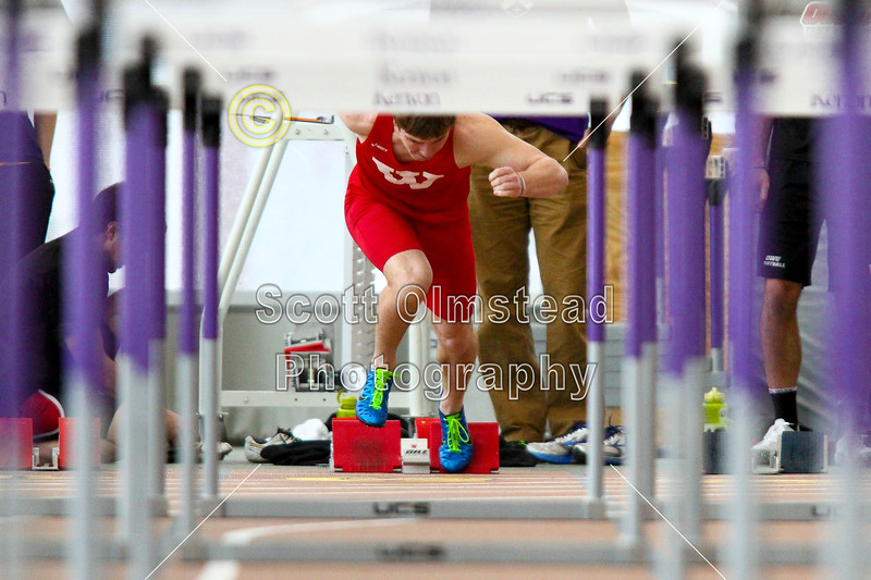 60 Meters Hurdles Heptathlon - Sunday, March 2, 2014 - North Coast Athletic Conference, NCAC, Track and Field Heptathlon Championships held at Kenyon College, home of the Kenyon Lords and located in Gambier, Ohio