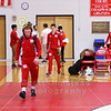 The Little Giants enter the arena - Manchester College Spartans at Wabash College Little Giants - Senior Night - Friday November 15, 2019