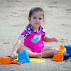 Mia playing on the beach of the Wabash River