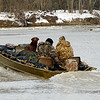 Wabash River January 4, 2014  Duck Hunters and Lab