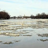 Wabash River January 4, 2014 looking upriver to Terre Haute
