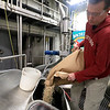Brew Master Ben Roesch from Wormtown gets ready to put some wheat flakes into the mash cooker at the Wachusett brewing Company to start the process for making the beer they are calling Worcester's Bravest. The two breweries have come together to make this beer to help raise money to be donated to the Ava Roy Fund set up by the Worcester International Association of Firefighters local 1009. SENTINEL & ENTERPRISE/JOHN LOVE