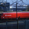 DB Schenker biomass wagon 310318 sits in Worksop yard on 22nd December 2012 in the first of the daylight!