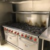 Gas Burner Range and Oven in Kitchen adjacent to Banquet Hall in Firestation- 412 W. Kings Hwy