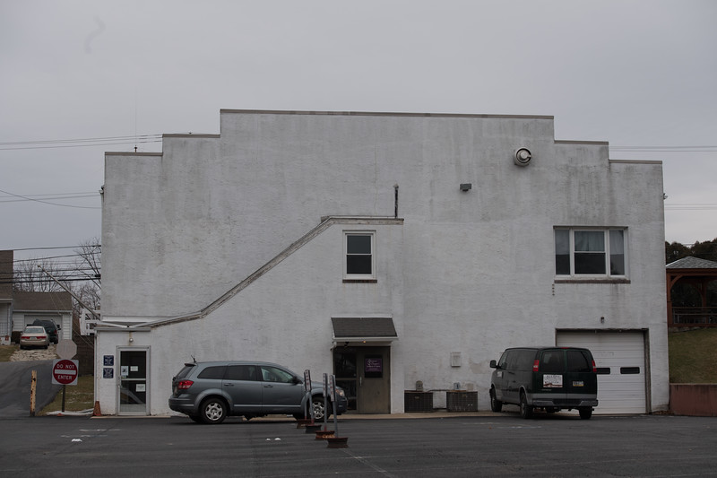 Rear of 416 W. Kings Hwy occupied as Dance Studio, post office, and FC boat storage