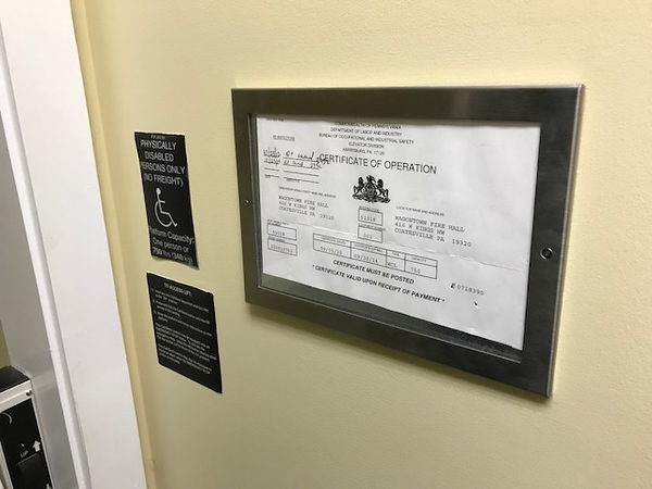 No longer used elevator for handicapped in new building